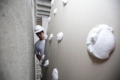 colagem chapa drywall