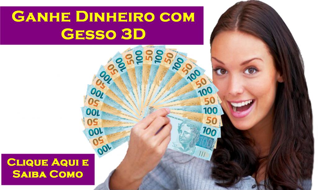 ganhar dinheiro com gesso 3d