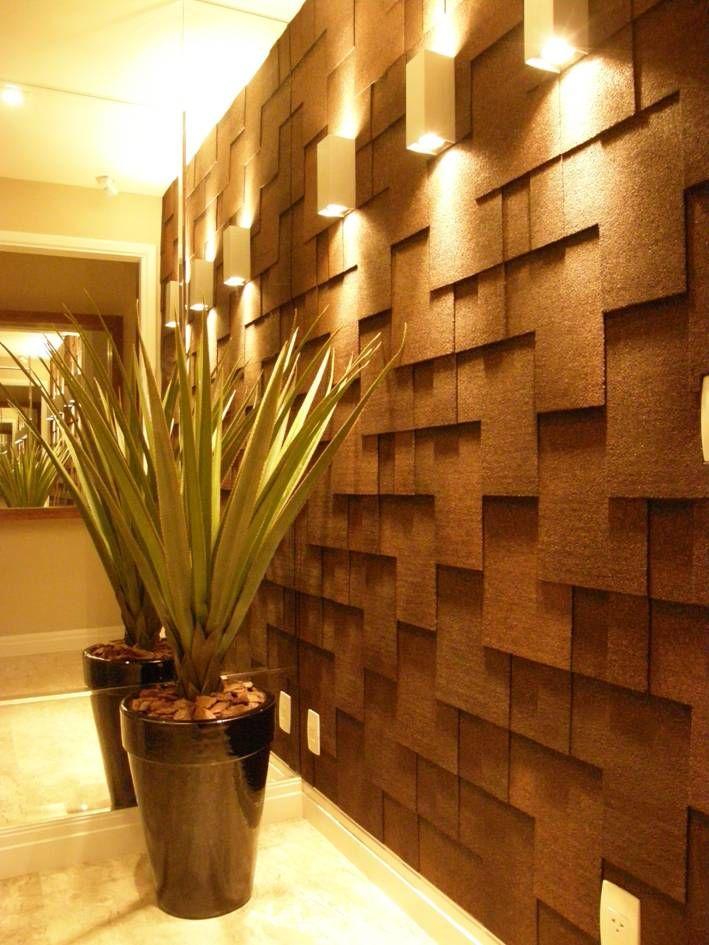 Parede gesso 3d 20 modelos para voc se inspirar - Placas decorativas paredes interiores ...