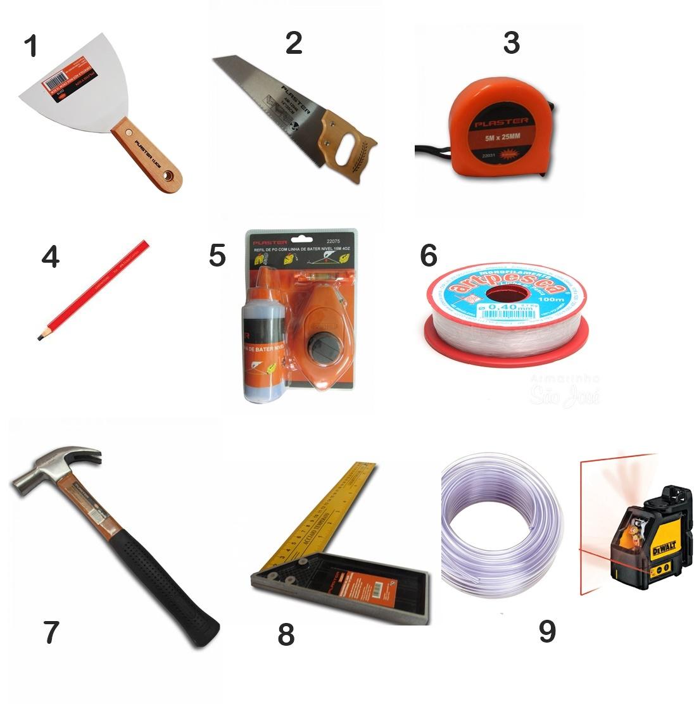ferramentas para gesseiro
